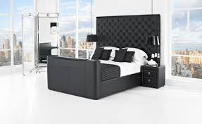Tv Bed Frames Encore King Size Leather Tv Bed 180cm Corstorphine Bed
