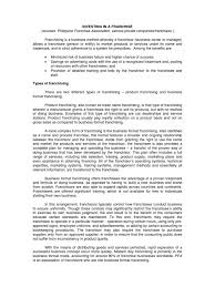 Letter Of Intent To Start A Business Sample by Investing In A Franchise Franchising Private Law