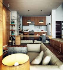 interior design kitchen living room loft design inspiration