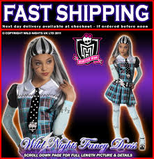 Monster Halloween Costumes Girls Girls Monster Frankie Stein Costume Small Age 3 4