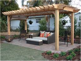 backyards mesmerizing stonework accents this pergola for an