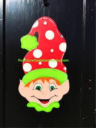 christmas elf door hanger christmas door decor christmas wreath