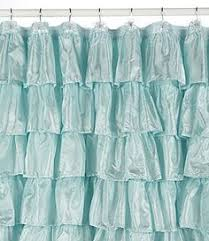 Turquoise Ruffle Curtains Image Search Results For Peacock Shower Curtain Home Sweet Home