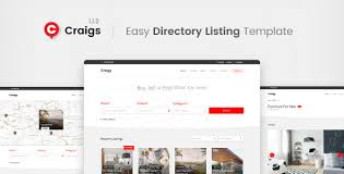 web templates website templates directory listing website theme craigs directory listing template by themestarz themeforest