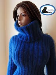knitted sweater turtleneck mohair yarns baghira sweaters