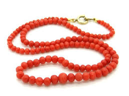coral bead necklace images Genuine red coral necklace 18 inch 45 cm natural mediterranean jpg
