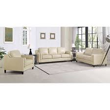 sofa loveseat and chair set dobson 3 piece top grain leather set sofa loveseat chair