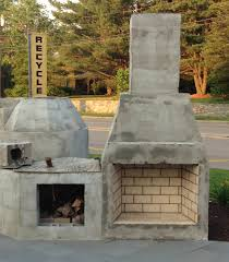 build your own outdoor fireplace designs with near grass in stone flooring