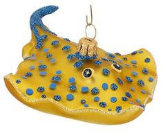 scuba diver polish mouth blown glass christmas ornament
