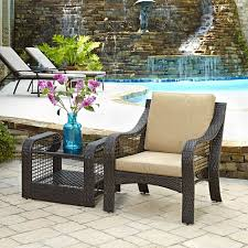 Patio Accent Table by Coral Coast Laynee All Weather Wicker 3 Piece Patio Swivel Chairs