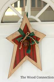 the wood connection christmas star door hang wood crafts