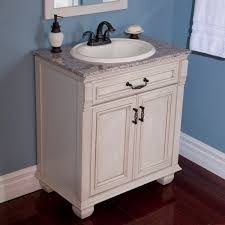 marvelous antique white bathroom vanities using washed paint