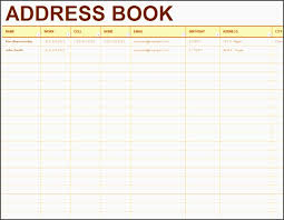5 excel contact database template besttemplates pdf doc xls