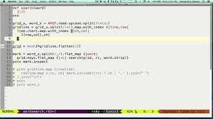 ruby hash map wordsearch ruby