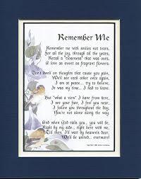 memorial poems for memorial gift 96 touching 8x10 bereavement poem