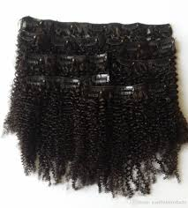 human hair clip in extensions cheap afro curly clip in human hair extensions