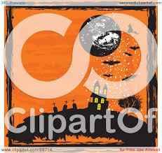 halloween house clipart royalty free rf clipart illustration of an orange halloween