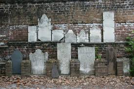 pictures of tombstones wall of tombstones picture of colonial park cemetery