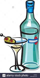 blue martini bottle martini glass olive closeup black background white stock photos