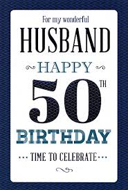 50 birthday card husband 50th birthday birthday card co uk kitchen home