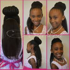 hairstlye of straight back hairstyles for teens bun with straight back natural hair kids