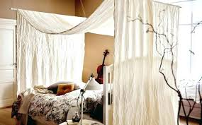 Curtain Beds 4 Poster Canopy Bed Curtains Adca22 Org