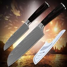 laser kitchen knives cooking tools stainless steel 2 santoku 5 inch 7 inch kitchen