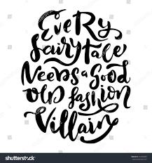 brush lettering design phrase every fairytale stock vector