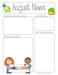 7 best images of kindergarten newsletter template preschool