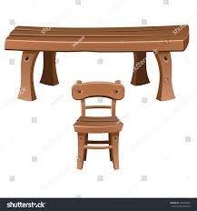 Colors Of Wood Furniture Set Wooden Furniture Chair Table Vector Stock Vector 432932086