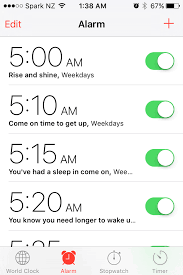 Iphone Alarm Meme - setting my alarm for the first time after have 10 days off work