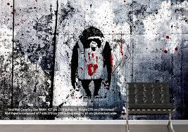 monkey wallpaper for walls monkey banksy wallpaper printed wall paper