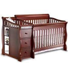 Baby Cribs 4 In 1 With Changing Table Sorelle Tuscany 4 In 1 Convertible Crib And Changer Espresso