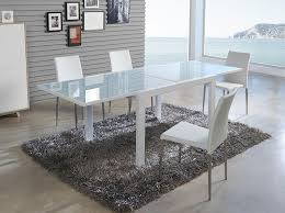 White Glass Extending Dining Table Contemporary White Glass Extending Dining Table In 2 Sizes