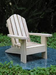 Miniature Adirondack Chair Miniature Dollhouse Fairy Garden Furniture Unfinished Wood