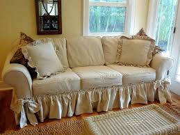 shabby chic sofa covers shabby chic sofa slipcover drop cloth slipcover