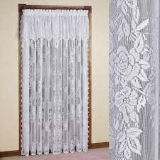 Extra Long Valance Class Kitchen White Sheer Cafe Curtains Tiers And Valance Window