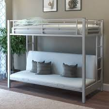 White Futon Bunk Bed Fabulous White Futon Bunk Bed With Monarch Specialties Inc