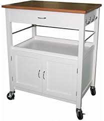 white kitchen cart island ehemco kitchen island cart wood top with