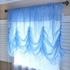 Balloon Shade Curtains Princess Blue Sheer Balloon Curtain Shade Balloon Curtains