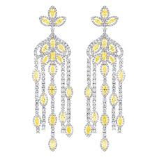 dramatic earrings dramatic diamond chandelier earrings for sale at 1stdibs