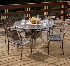 Aluminum Dining Room Chairs Dining - sebastian cast aluminum outdoor dining set in copper patio table