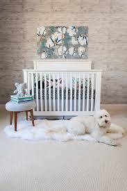 blue boy nursery with blue accent wall transitional nursery