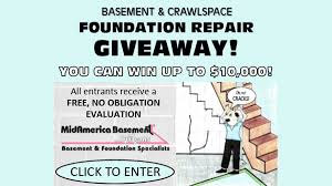 basement and crawlspace foundation repair giveaway sweepstakes