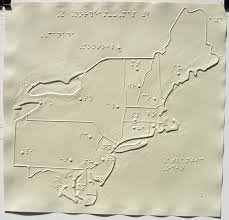 Northeast Usa Map by The Princeton Braillists Tactile Maps And Atlases For The Blind
