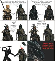 Skyrim Memes And Jokes - skyrim dialogue it could have been better fixed no meme