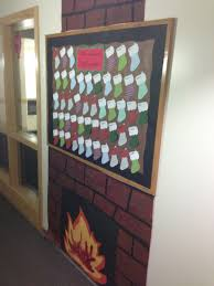 res livin holiday fireplace bulletin board with residents