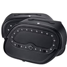 kawasaki eliminator 125 saddlebags large spear shock cutout studded