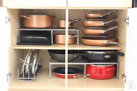 how to organize pots and pans in a cupboard how to keep pots and pans organized neat house sweet home
