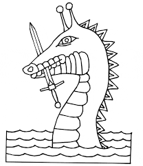 sea dragon coloring animals town animals color sheet